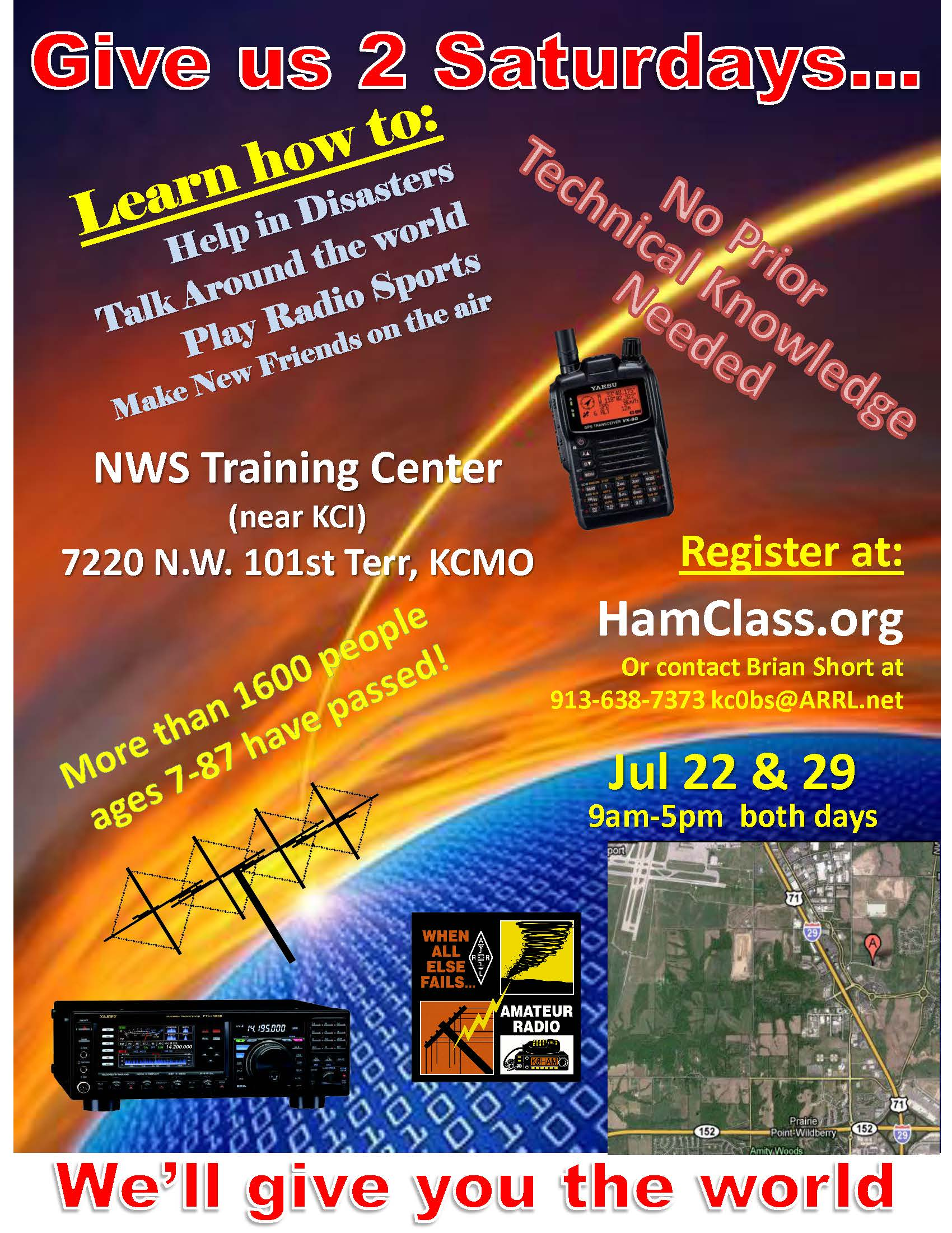 July 22 & 29 at NWS Training Center near KCI